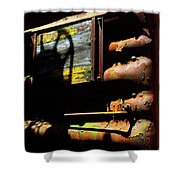 Boxcar Past Its Time Shower Curtain