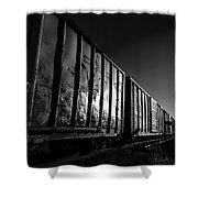 Boxcar Sunrise Shower Curtain