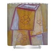 Boxed Vase Shower Curtain