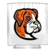 Boxer Dog Mascot Shower Curtain