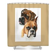 Boxers Shower Curtain by Barbara Keith