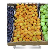 Boxes Of Fruit Shower Curtain