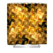 Boxes Yellow Art Shower Curtain