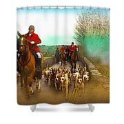 Boxing Day Hunt Shower Curtain