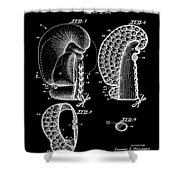 Boxing Glove Patent 1944 Black Shower Curtain