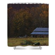 Boxley Valley Farm Shower Curtain