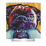 Boxy Boxer Shower Curtain