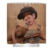 Boy And Bear  Shower Curtain