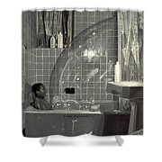Boy And The Bubble Shower Curtain