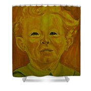 Boy In Green Blouse Shower Curtain
