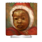 Boy In Red Shower Curtain