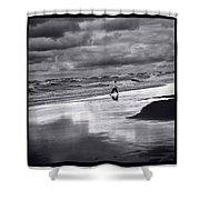Boy On Shoreline Shower Curtain