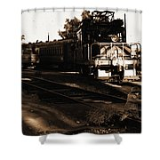 Boy On The Tracks Shower Curtain