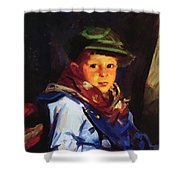 Boy With A Green Cap Also Known As Chico 1922 Shower Curtain