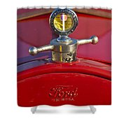 Boyce Motometer Hood Ornament Shower Curtain