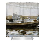 Boys In A Dory, By Winslow Homer, Shower Curtain
