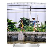 Boys In Bangkok Shower Curtain