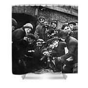 Boys Shooting Craps, C1910 Shower Curtain