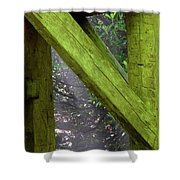 Braced With Moss Shower Curtain