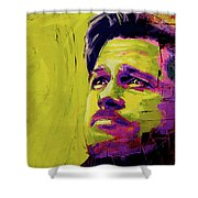 Brad Pitt Fury Shower Curtain