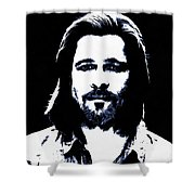 Brad Pitt Shower Curtain