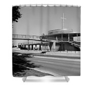 Bradford Beach House B-w Shower Curtain