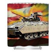 Bradley M2 Fighting Vehicle Shower Curtain