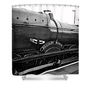 Bradley Manor In Black And White Shower Curtain