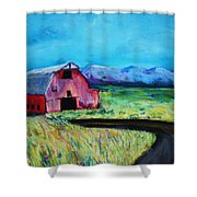 Bradley's Barn Shower Curtain