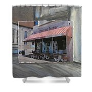 Brady Street - Peter Scortino Bakery Layered Shower Curtain