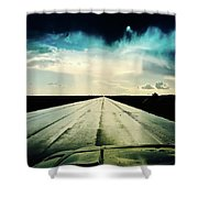 Braeking Through The Storm Waskatena Shower Curtain