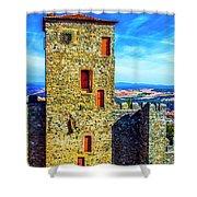 Braganca Castle Tower Shower Curtain