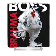 Brahma Boss II T-shirt Print Shower Curtain