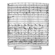 Brahms Manuscript Shower Curtain