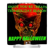 Brain Desert Halloween Card Shower Curtain