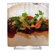 Braised Beef With Vegetables Shower Curtain