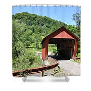 Braley Covered Bridge Shower Curtain