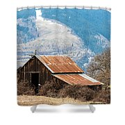 Bramble Bound Barn Shower Curtain