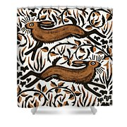 Bramble Hares Shower Curtain