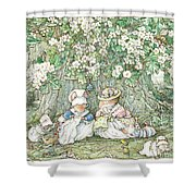 Brambly Hedge - Hawthorn Blossom And Babies Shower Curtain