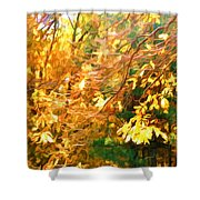 Branch Of Autumn Leaves Shower Curtain