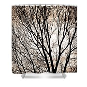 Branches Silhouettes Mono Tone Shower Curtain