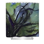 Branching Shower Curtain by Leila Atkinson