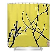 Branching Out Snowscape 3 Shower Curtain