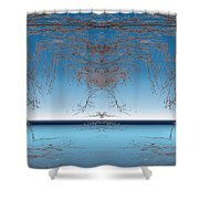 Branching Outward Shower Curtain