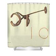 Branding Iron Shower Curtain
