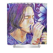 Brandon Boyd Shower Curtain by Joshua Morton