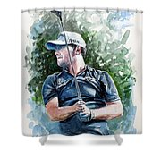 Branden Grace Watercolor Shower Curtain