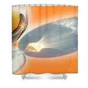 Brandy Glass Reflection Shower Curtain
