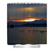 Brants At Sunset Shower Curtain